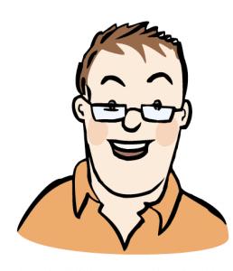 Mann / Junge mit Brille